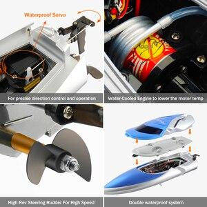 Image 5 - Barco RC 30 km/h lancha rápida de alta velocidad 4 canales 2,4 GHz Radio Control H106 barco remo juguetes modelo para niños y adultos