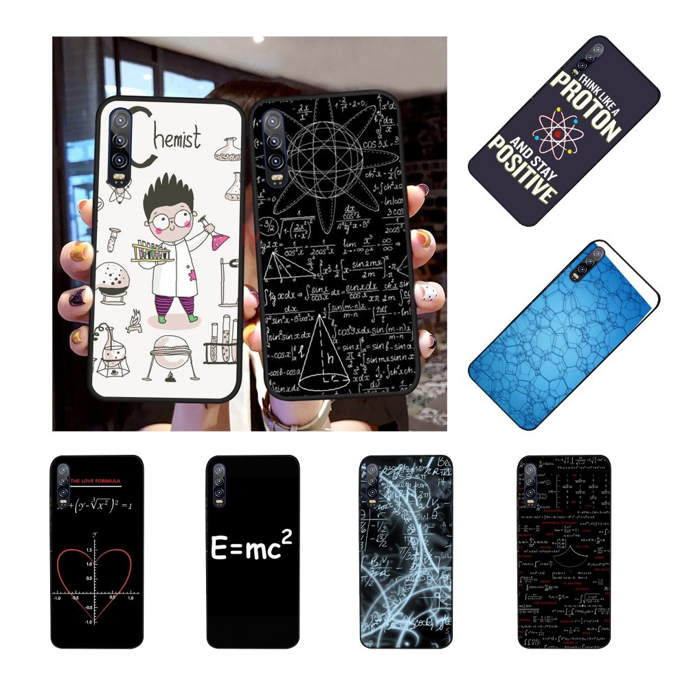 NBDRUICAI Biology and Chemistry formulas Bling Cute Phone <font><b>Case</b></font> for <font><b>Huawei</b></font> 10 <font><b>lite</b></font> <font><b>P20</b></font> pro <font><b>lite</b></font> P30 pro <font><b>lite</b></font> <font><b>mate</b></font> 20 honor 9x pro image