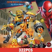 322 Uds. lepines vengadores superhéroes Marvel hombre araña fundido veneno de hombre araña lejos del hogar bloques de construcción figura de juguete