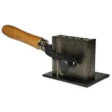 ทอง/เงิน/โลหะEu Molding Groove Ingot Mouldเครื่องมือปรับขนาดเครื่องมือน้ำมันGroove Chiselไม้จับMoul