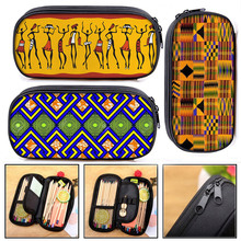 African Print Woman Cosmetic Case Afro Pencil Bag Fashion Girls Stationary Bag Stationary