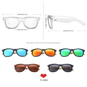 Image 3 - نظارة شمسية جديدة مستقطبة مصنوعة يدويًا من خشب البامبو من BARCUR نظارة شمسية للشاطئ للرجال والنساء تصلح كهدية