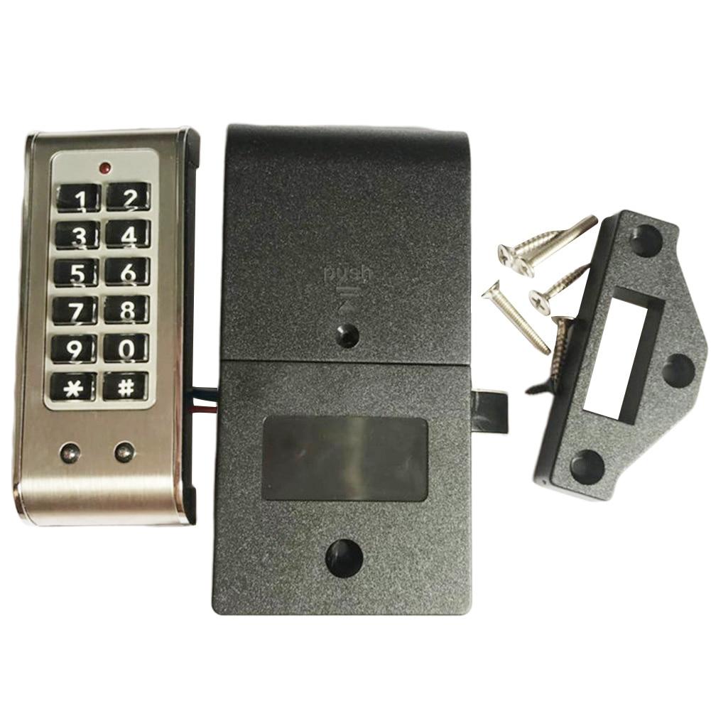 Домашняя дверь, противоугонная клавиатура, пароль, замок для шкафа, ящик, безопасность, Цифровая Электрическая защита, офисные шкафы, нержавеющая стальЭлектрический замок    АлиЭкспресс
