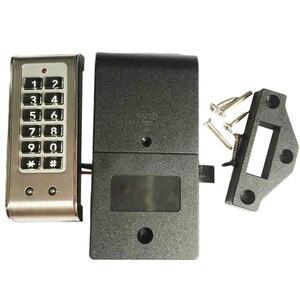 Image 1 - ホームドア抗盗難キーパッドパスワードキャビネットロック引き出し安全デジタル電気保護オフィスワードローブステンレス鋼