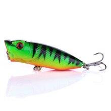 цена на 1pc 6.5cm 11.5g Popper Fishing Lure isca artificial fishing bait Crankbait Wobblers high carbon steel hook Fishing Lures Hot Top