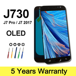 Factory Lcd OLED For Samsung Galaxy J7 2017 Display J730F 5.5 Screen Replacement J7 Pro Lcd For Samsung J730 Lcd Touch Screen