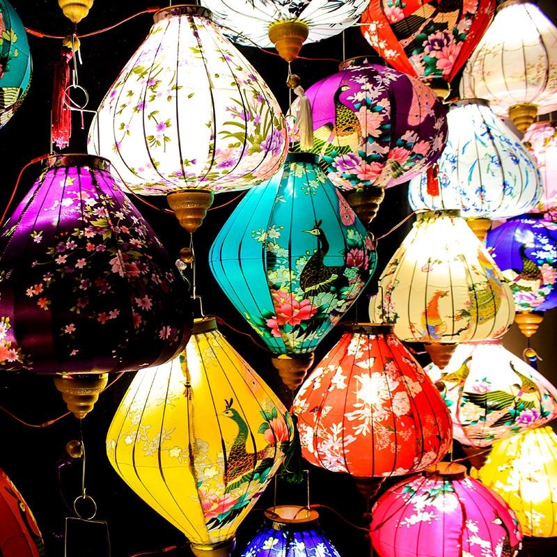 Japanese Chinese Pendant Balcony Traditional Chinese New Outdoor Lanterns Year Led Style Ideas Decoration Emitting Red Antique
