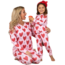 Daughter Sleepwear Pajamas Family Matching Outfits Shirt Mommy Me Fall And Set Pant Heart-Print-Spring