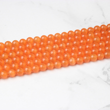 LingXiang  fashion natural Jewelry Orange Cat Eye stone loose beads Suitable for DIY womens bracelet necklaces