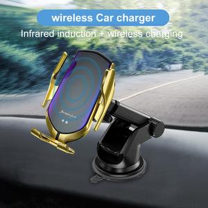 Image 2 - Car Mount Qi Wireless Charger For iPhone 11 Pro XS Max X XR 8 10W Fast Charging Car Phone Holder For Samsung Note 9 10 S9 S8 S10
