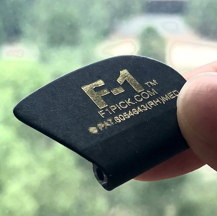 Big Rock Engineering F-1 Ergonomic Grip Guitar Pick, For Improved Control, Easier Play, And Better Tonal Balance With F-1 Damper