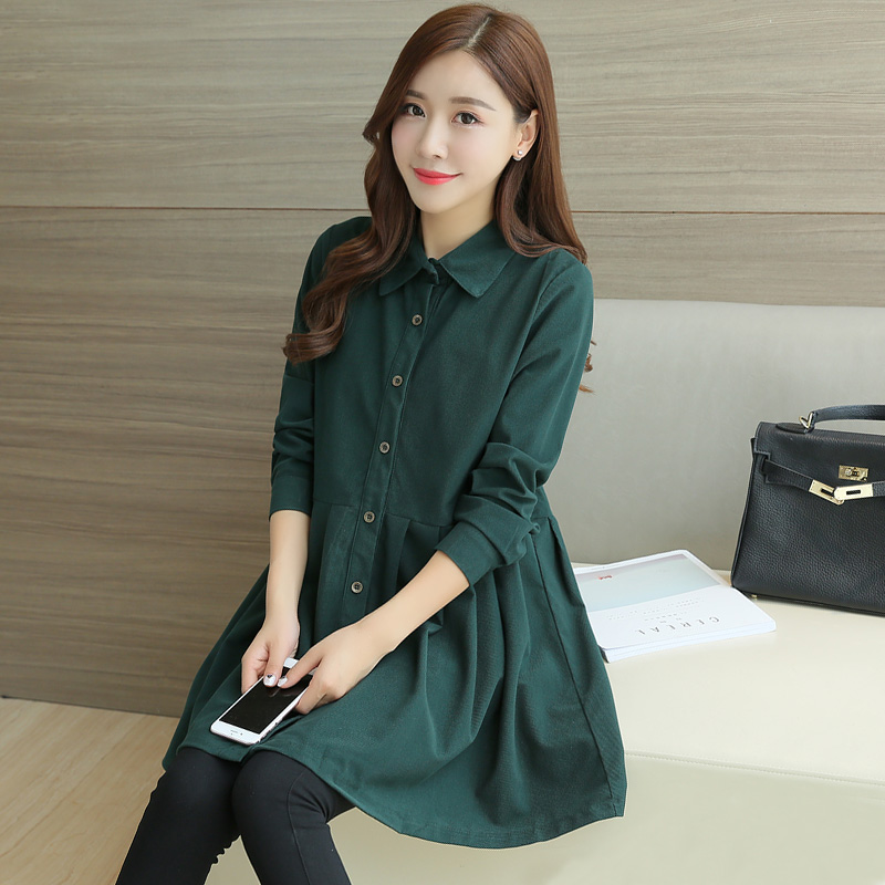 Spring Maternity Clothing Pregnants Tops Long Sleeve Nursing Blouse For Maternity Shirt Autumn Clothes For Pregnant Women C895