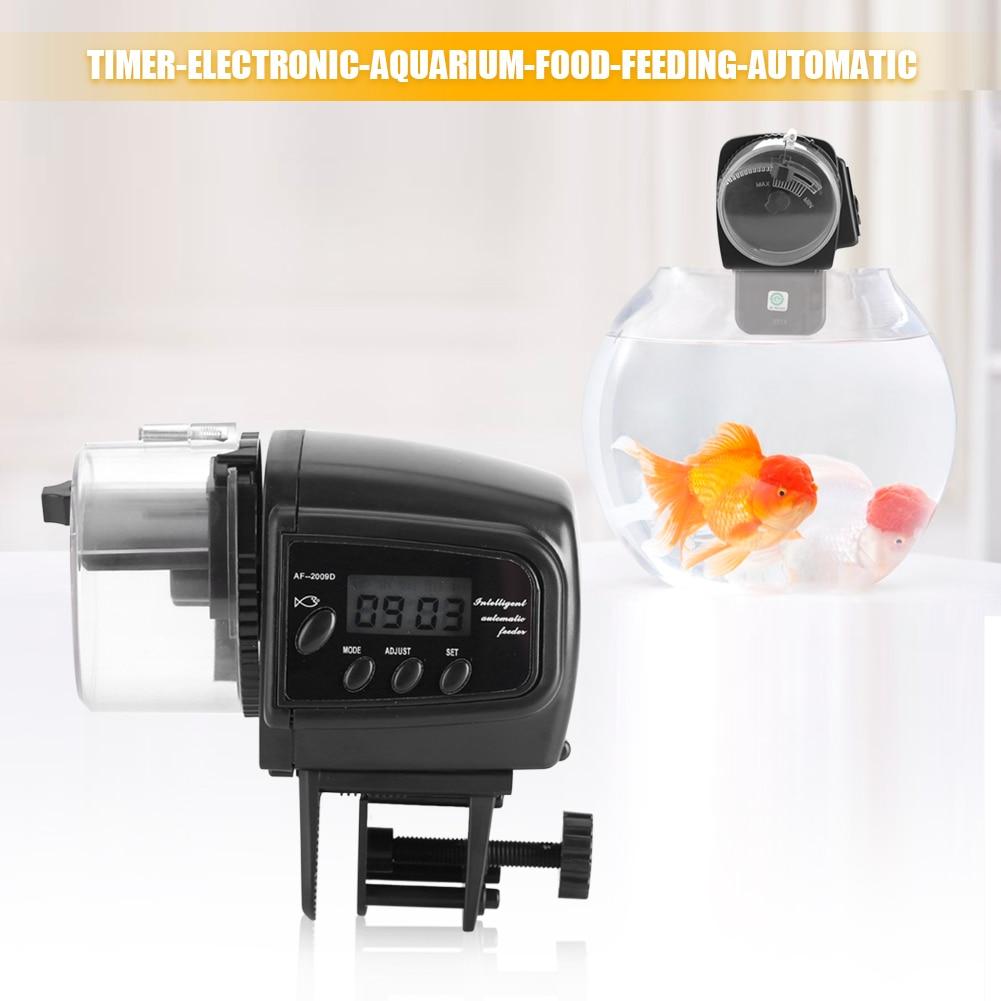 Digital LCD Electronic Fish Feeder Dispenser Timer Automatic Aquarium Tank Food Feeding Machine Alimentador Automatico Peces title=
