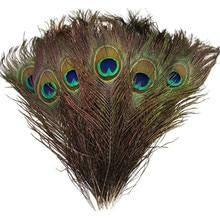 20 шт./партия, высокое качество, перья павлина, длина 25-32 см, красивые натуральные перья павлина, сделай сам, ювелирное изделие, декоративный для декора, фурнитура