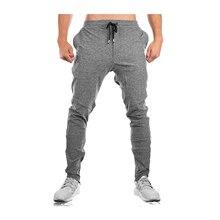 Sport Fitness Mannen Broek Rits Voet Katoen Joggingbroek Ropa Hombre Joggers Spodnie Dresowe Pantalones Casual Broek Heren Broek