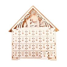 Christmas Wooden Countdown Advent Calendar With LED light Ornament