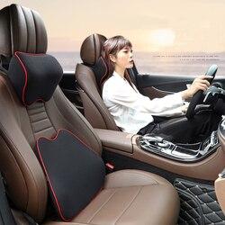 Samochód szyi poduszka zagłówka poduszka fotel samochodowy zagłówek ochraniacz szyi siedzenia samochodowe odpoczynku pamięci bawełniana motyw samochodu akcesoria|Poduszka pod szyję|Samochody i motocykle -