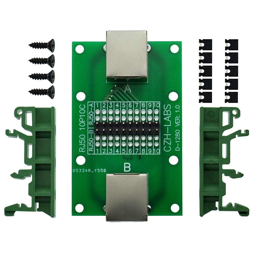 CZH-LABS RJ50 10P10C Diagnostic Test Breakout Module Board.