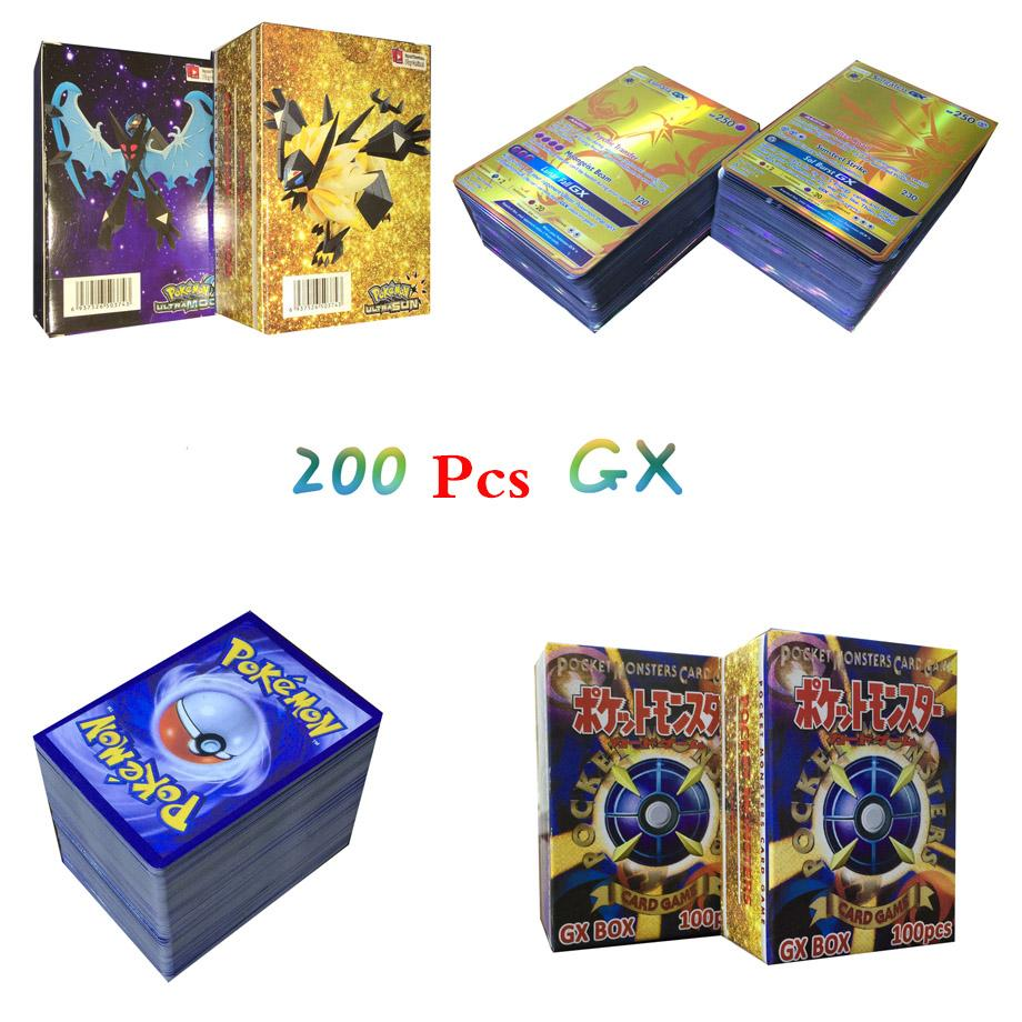 200Pcs/box Newest English Pokemon Cards GX Trading Game Card Children Collection Toy