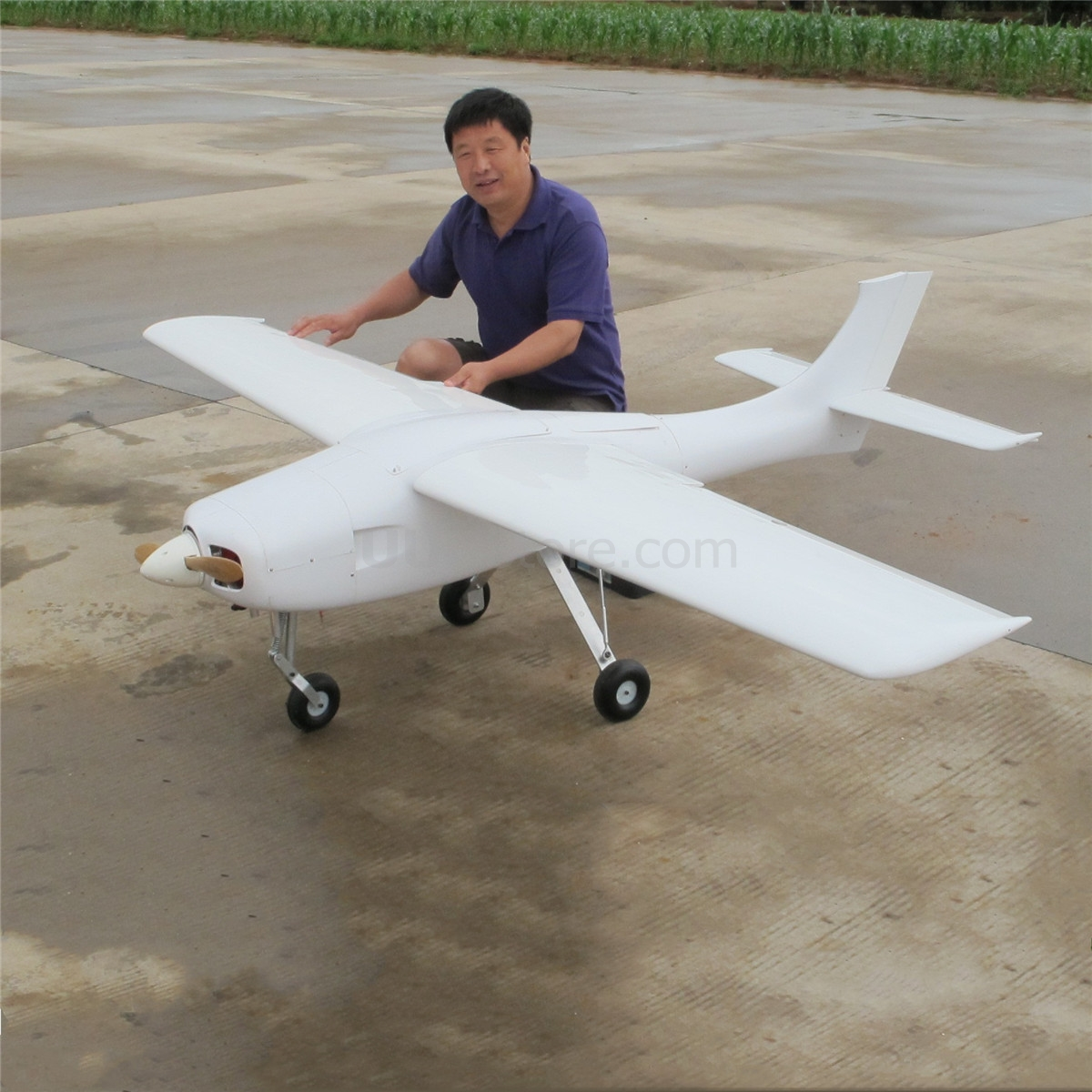 FPVOK UAV Gas Powered 2.6m Wingspan Requirement 50-80cc engine Modle Airplane image