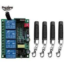 Esperto múltiplo ac110v 220v 230v 10a 433 mhz 4ch 4 ch 4 canal relé sem fio rf interruptor de controle remoto receptor + transmissor