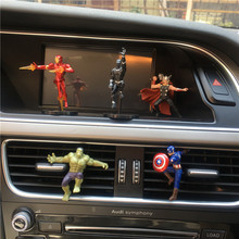 5PCS Avengers Mini Captain America Iron Man Car Ornaments Car Interior Decoration Araba Aksesuar Car