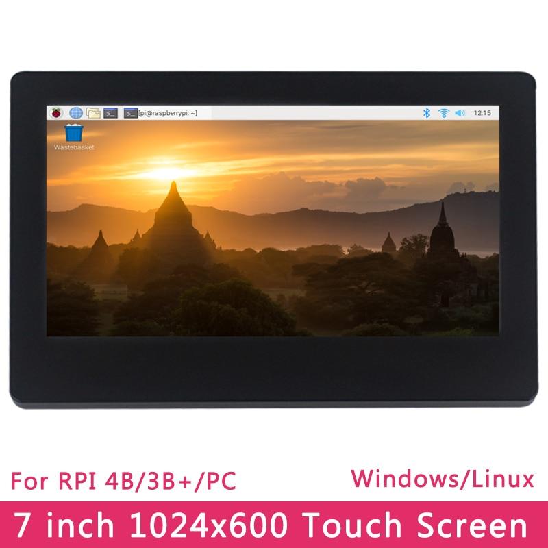 7 Inch Raspberry Pi 4 Model B 3B+ 3B  Touch Screen 1024x600 LCD Adjustable Brightness IPS Display For PC Laptop Jetson Nano