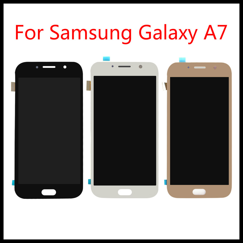 For <font><b>Samsung</b></font> Galaxy A7 2017 <font><b>A720</b></font> A720F A720M <font><b>LCD</b></font> Touch Screen Digitizer Assembly Replacement Free Tools 100% Tested image