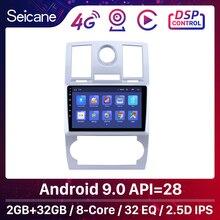 Seicane android 9.1 quad core 2din carro gps navegação rádio multimídia player para chrysler aspen 300c 2004 2005 2006 2007 2008