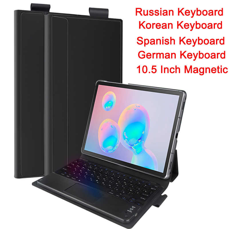 Wireless Rusia Keyboard untuk Samsung Galaxy Tab S6 10.5 2019 SM-860/T865 Tablet Bluetooth Keyboard Korea Magnetic Keyboard