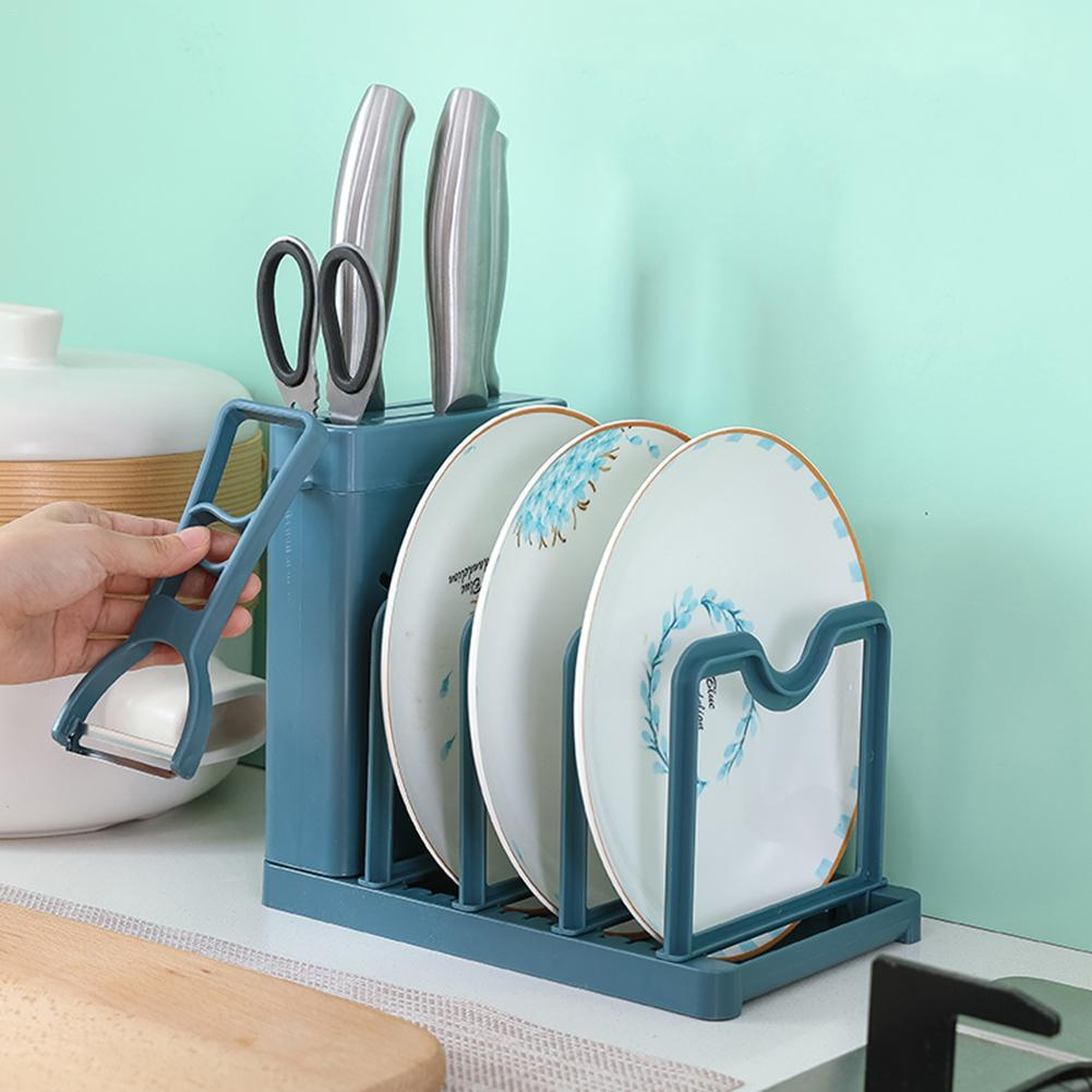 Pan And Lid Rack Cutting Board Rack Holder Bakeware Organizer Kitchen Cabinet Storage Holders & Racks