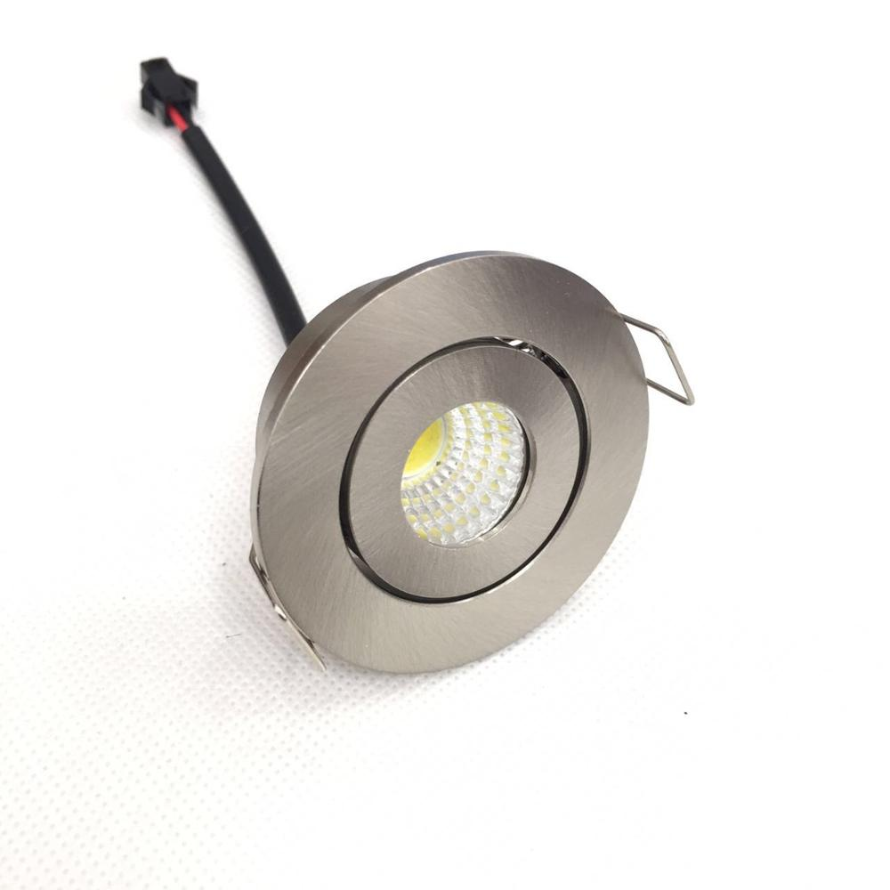 1pcs/lot 3W Small Led Downlights Recessed Mini Adjustable Cob Cabinet Spot Lights Hole Size 40-45mm image