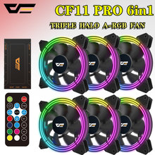 Aigo CF11 Rgb Fan 3P-5vAURA Sync Computer Case Pc Koelventilator Led 120 Mm Stille + Ir Remote Nieuwe Computer cooler Cooling Fan(China)