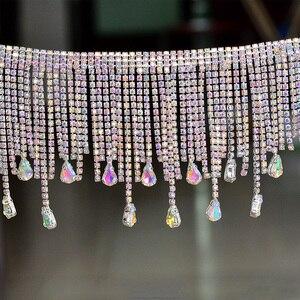 Image 4 - JUNAO 45 см/партия, блестящая металлическая лента для одежды