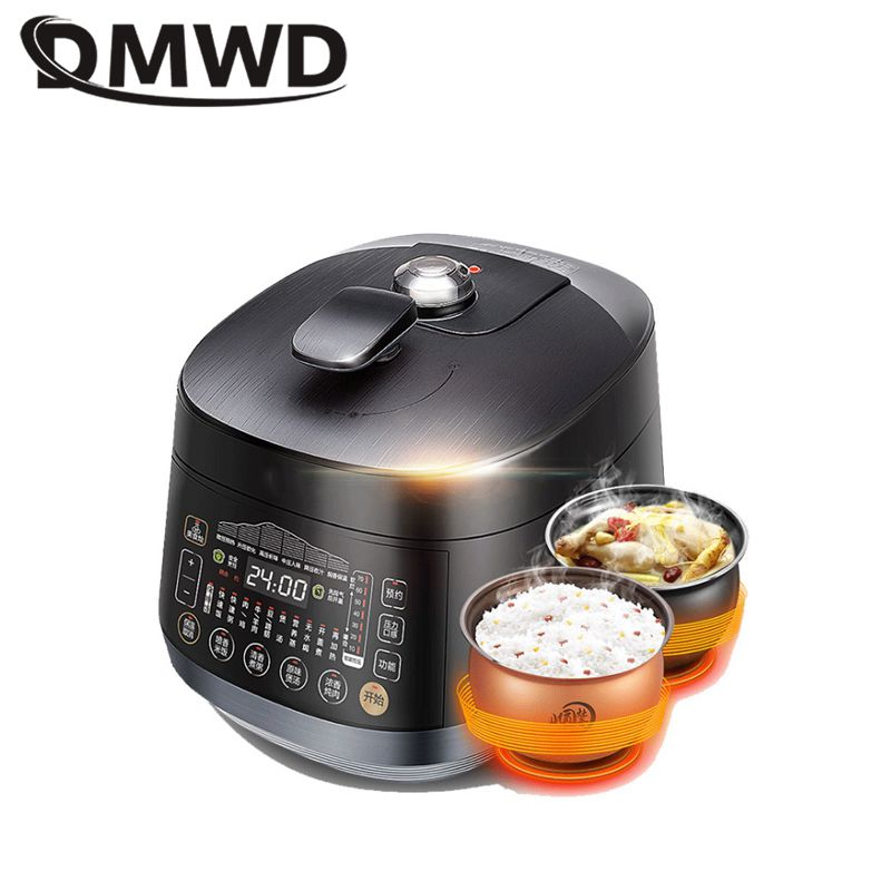 DMWD 4.8L Electric Pressure Cooker Intelligent Rice Cooker Porridge Soup Saucepot For 3 6 People 24H Appointment 7 Gear|Electric Pressure Cookers|   - AliExpress