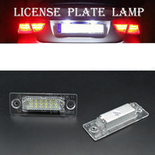 цена на 2PCS 12V Car Error Free LED License Number Plate Light Lamps For Caddy Jetta Passat Touran