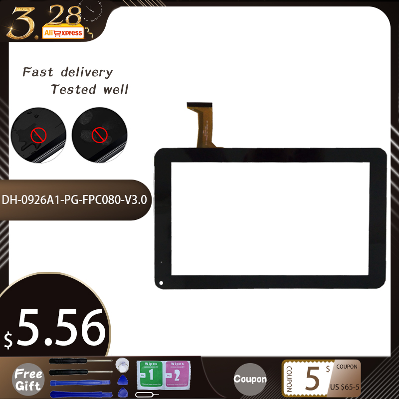 New 9''Inch DH-0926A1-PG-FPC080-V3.0 Tablet PC Capacitive Touch Screen Panel Digitizer Sensor Replacement Parts Free Shipping