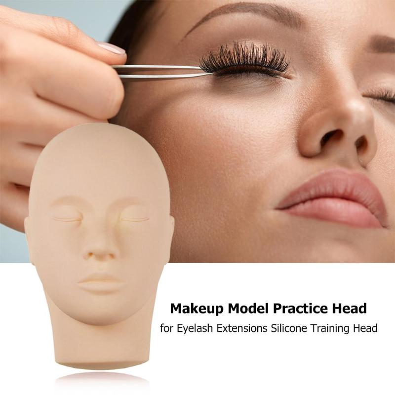 Soft Simulation Model Head Practical Classic Delicate Texture Durable For Training Eyelash Extensions Beauty Tool