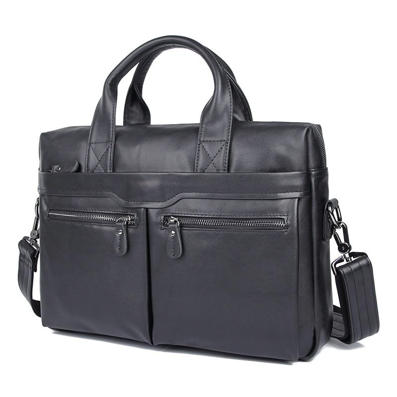 JMD винтажный кожаный мужской черный портфель сумка для ноутбука сумка мессенджер горячая Распродажа 7122A 1