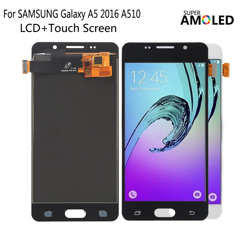 AMOLED For <font><b>SAMSUNG</b></font> <font><b>Galaxy</b></font> <font><b>A5</b></font> 2016 A510 <font><b>LCD</b></font> Display Touch <font><b>Screen</b></font> Phone Parts For <font><b>Samsung</b></font> A510 <font><b>Screen</b></font> <font><b>LCD</b></font> Replacement image