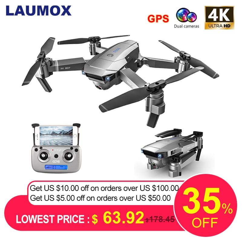 Avión teledirigido de LAUMOX sd907 GPS con cámara de ajuste 4K HD gran angular 5G WIFI FPV RC Quadcopter Drones plegables profesionales E520S E58