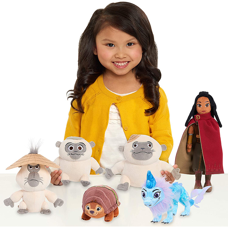Disney Raya And The Last Dragon Sisu Dragon Plush Tuk Tuk Chattering Ongis Monkey Stuffed Plush Animals Doll Toys For Children