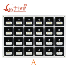 8  shapes of cubic zirconia loose 1 5 carat weight size set display tools box   diamond tester master set