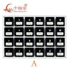 Boîte doutils pour tester les diamants, ensemble maître, 8 formes de zircone cubique, ensemble doutils, 1 5 carats de poids, 8 formes