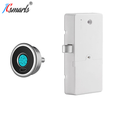 Easy DIY 2019 Full Automatic Semiconductor Keyless Fingerprint Lock Cabinet Drawer Security locker Lock With Biometric Reader