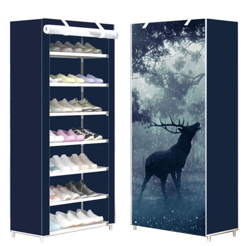 Восьмислойный современный минималистичный плотный нетканый шкаф для хранения обуви креативная сборка «сделай сам» пылезащитная обувь