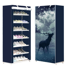 Eight Layers Modern Minimalist Thicken Non woven Shoe Storage Cabinet Creative DIY Assembly Dustproof  Shoe Organizer Shelf Rack