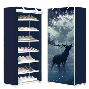 Image 1 - Eight Layers Modern Minimalist Thicken Non woven Shoe Storage Cabinet Creative DIY Assembly Dustproof  Shoe Organizer Shelf Rack