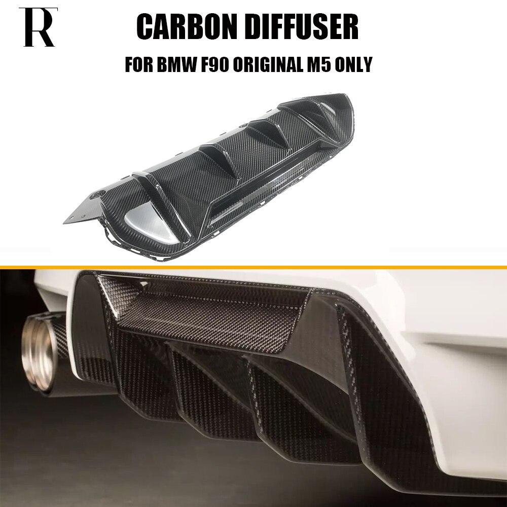 1pcs M5 Dry Carbon Fiber Rear Bumper Spoiler Diffuser for BMW F90 M5 Original M Bumper 2018 UP ( NOT fit M-tech M-sport Bumper )