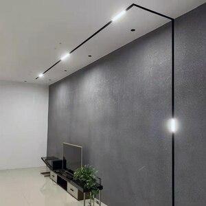 Image 2 - SCON sıcak satış 90 derece hareketli projektör lineer aydınlatma armatürü manyetik kanal